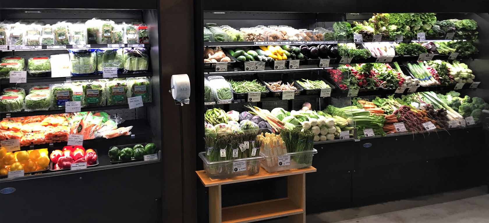 Regrigerated grocery display