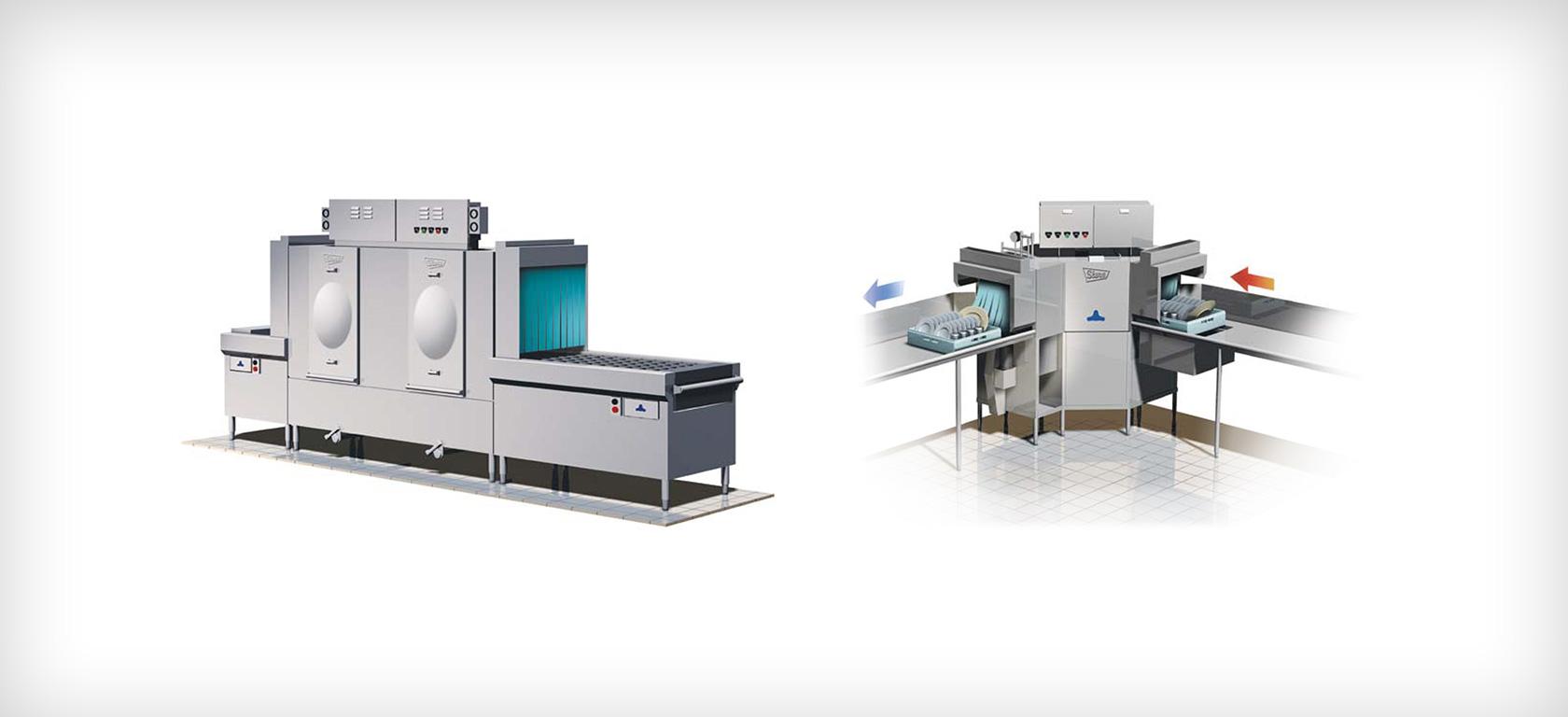GlassWasher and conveyor